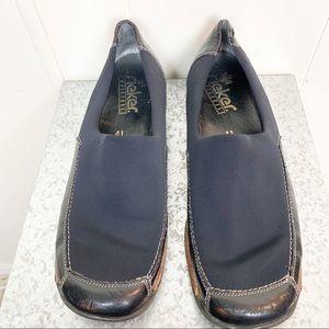 Rieker Anti-Stress black slip-on loafer
